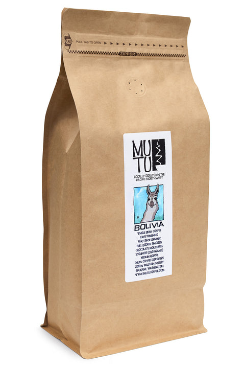 2.2 pound (or 1 kilogram) bag of Bolivia by Mutu Coffee