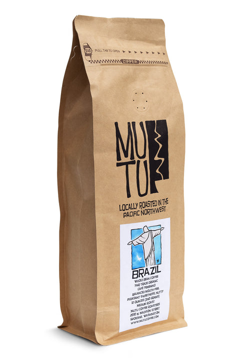 12 ounce bag of Brazil Café Femenino by Mutu Coffee