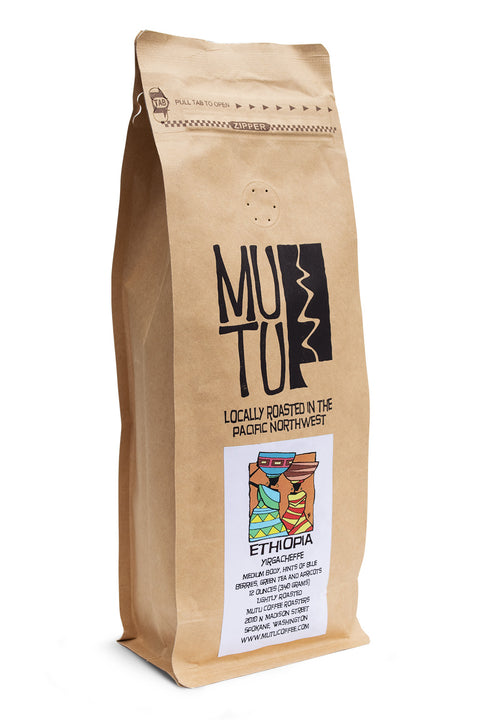 12 ounce bag of Ethiopia Yirgacheffe by Mutu Coffee