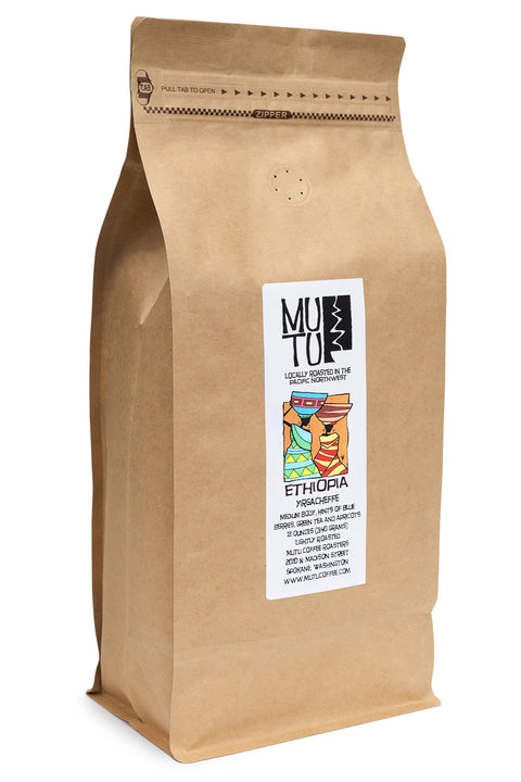 2.2 pound (or 1 kilogram) bag of Ethiopia Yirgacheffe by Mutu Coffee