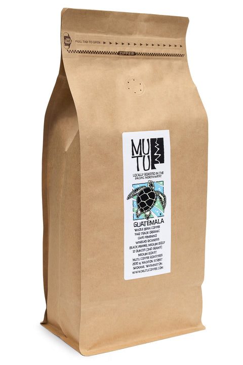 2.2 pound (or 1 kilogram) bag of Guatemala Café Femenino by Mutu Coffee