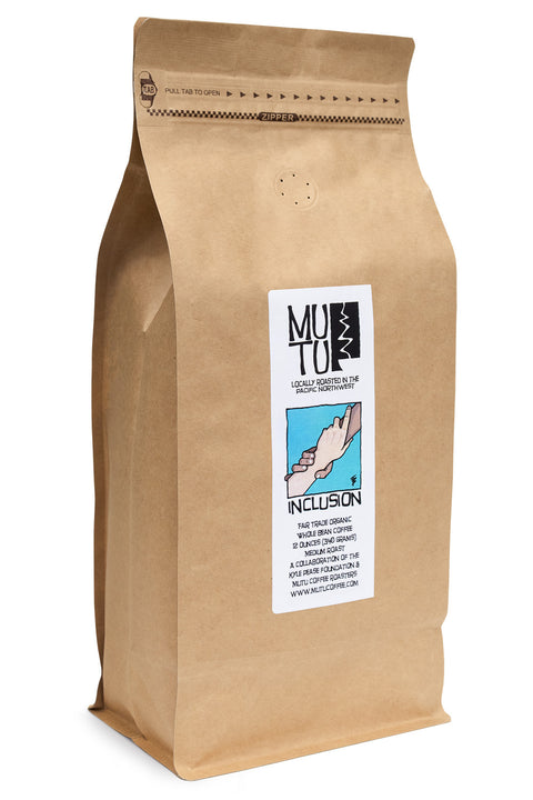 2.2 pound (or 1 kilogram) bag of Inclusion by Mutu Coffee