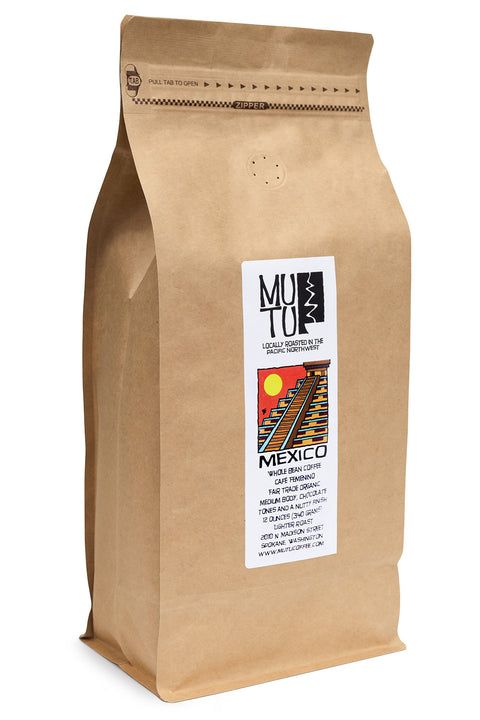 2.2 pound (or 1 kilogram) bag of Mexico Chiapas Café Femenino by Mutu Coffee
