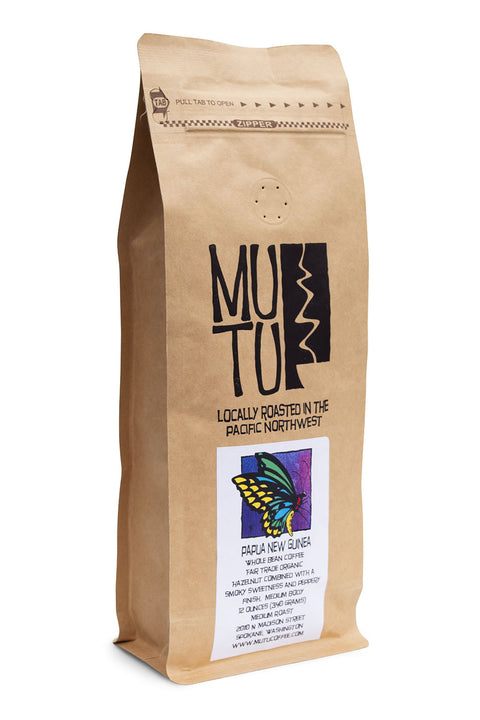 12 ounce bag of Papua New Guinea by Mutu Coffee