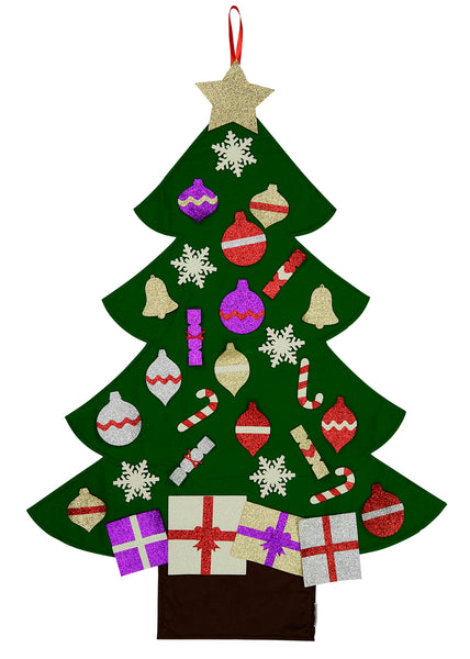 3ft felt glitter christmas tree new edition 2017 mushy moments tm - Glitter Christmas Tree