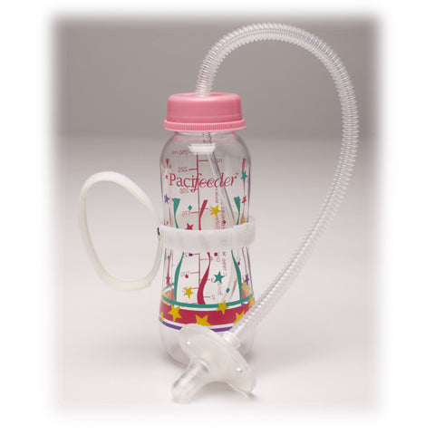 Pacifeeder® Hands-Free Baby Bottle Pink