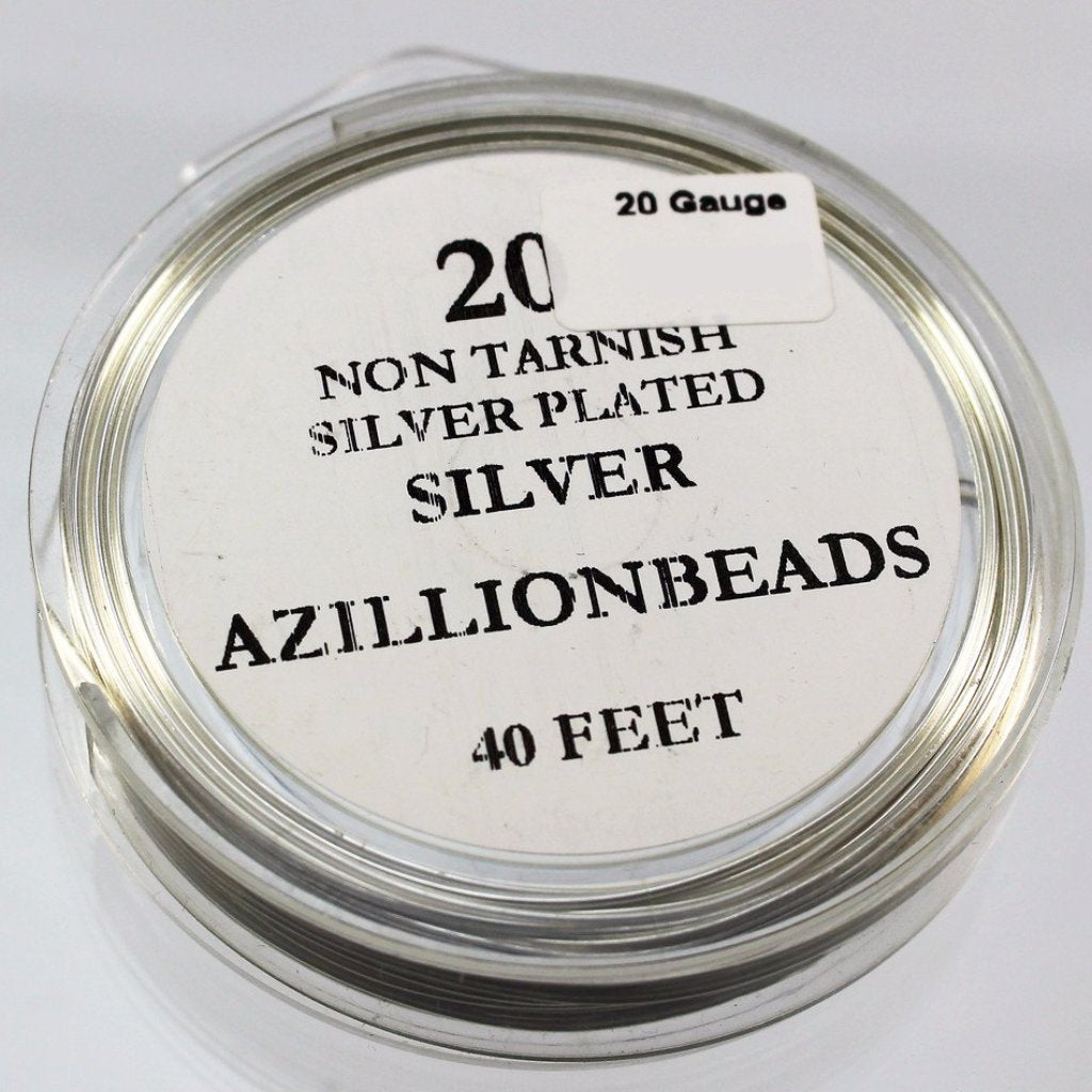 20g Coppe Core Wire, Non Tarnish Silver, 40ft - Azillion Beads