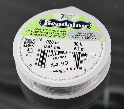 Beadalon .020 Satin Silver 7 Strand 30ft  B3-1002