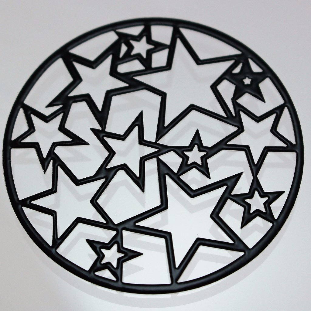 Component/Pendant/Connector, Black Coated, Die Cut. Sku B33037E - Azillion Beads