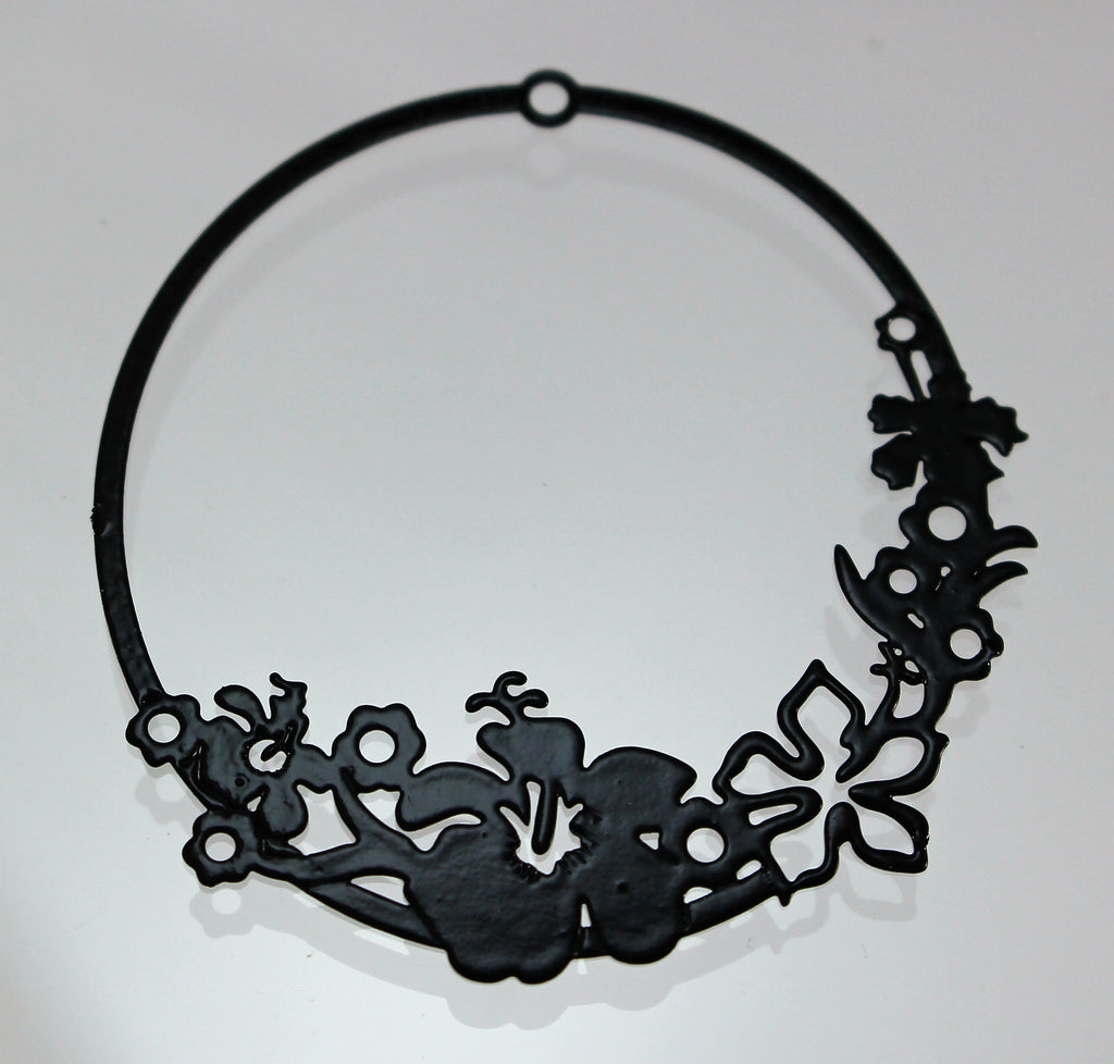 Component, Black Die Cut. Sku B33037F - Azillion Beads