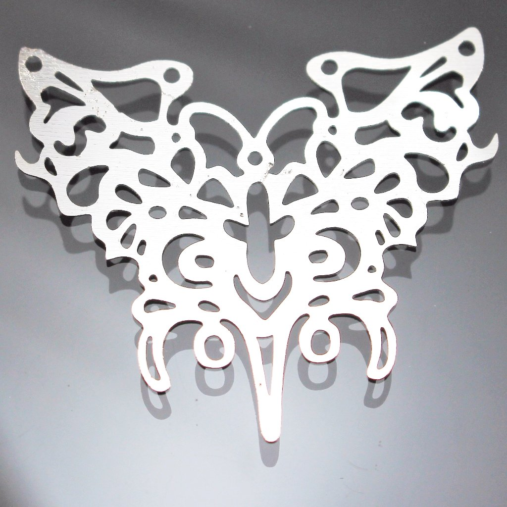 Component, Connector, Butterfly Shape, Die Cut. Sku B33038D - Azillion Beads