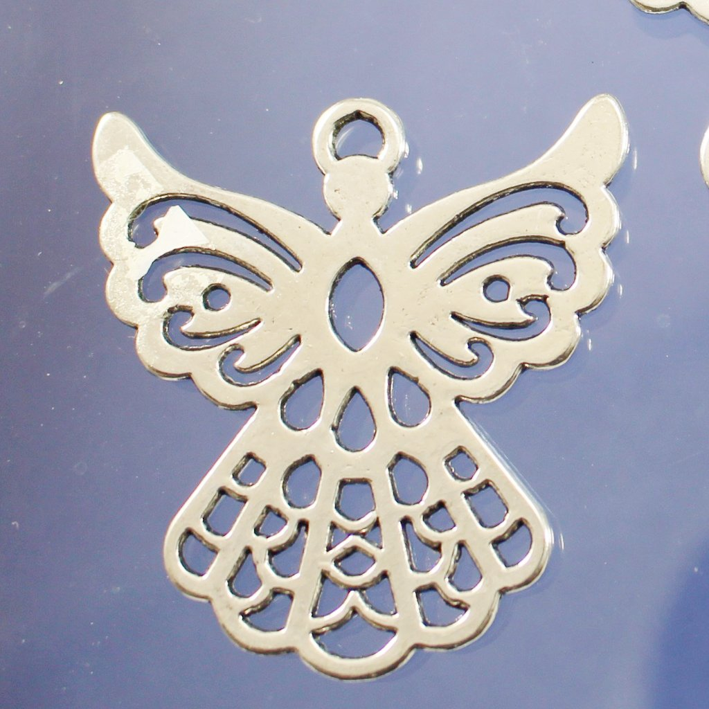 Pewter Angel Pendants. Sku B34029I - Azillion Beads