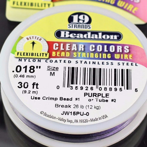 Beadalon .018 Purple 19 Strand 30ft  B3-5001