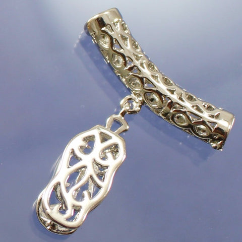 B35025A Silver Plated Filigree Bails