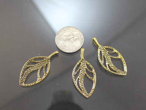 B42002A Gold Plated Pewter Leaves