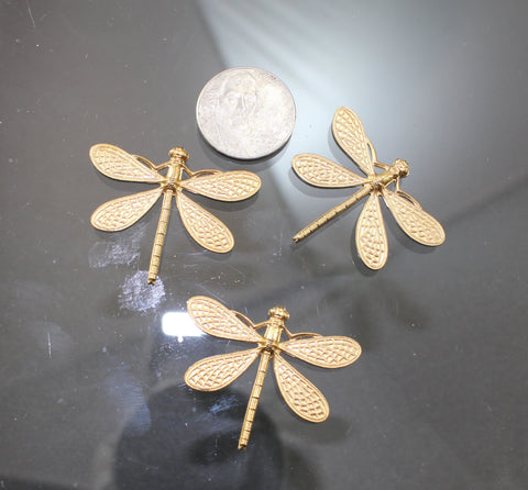B42003A Brass Dragonflies - Azillion Beads
