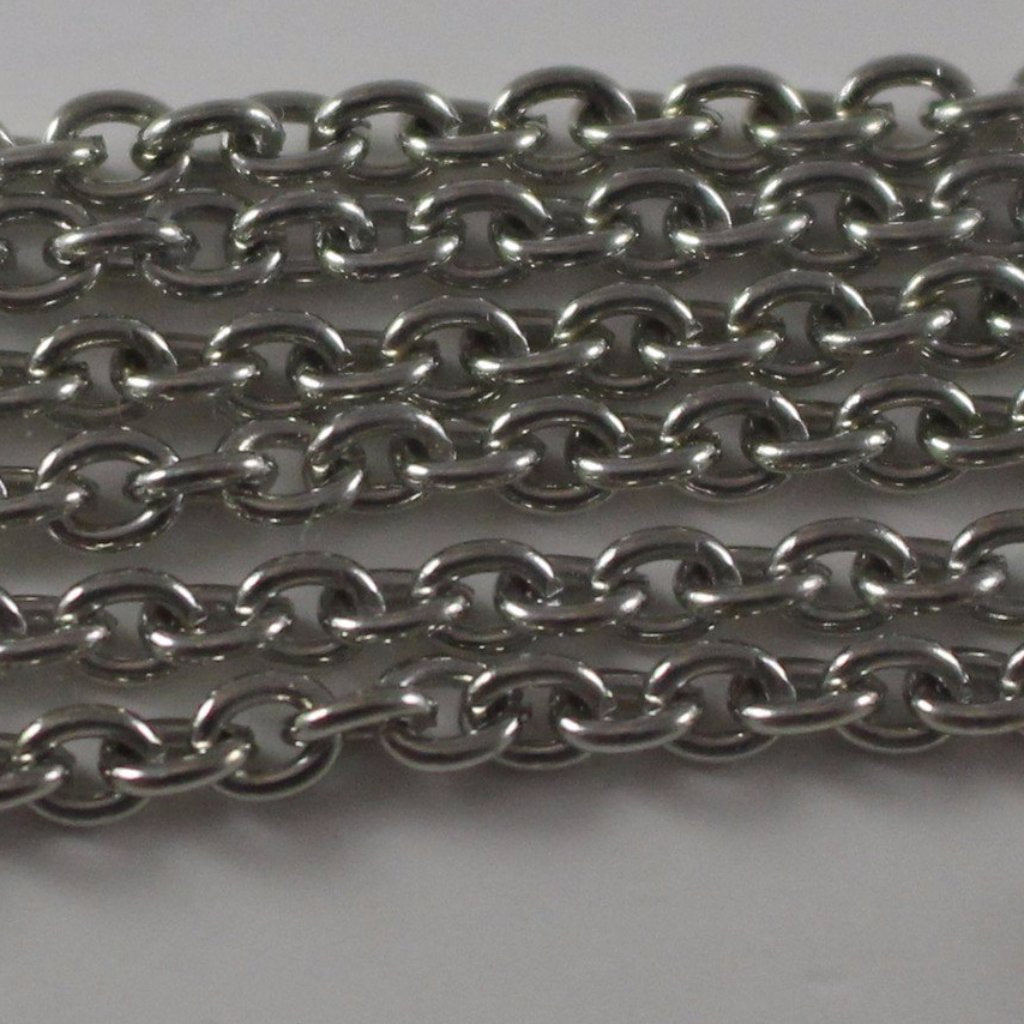Chain, Gunmetal Heavy Cable Chain. Sku B4T-GM446 - Azillion Beads