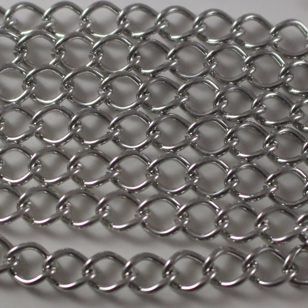 Chain, Gunmetal Curb Chain. Sku B4T-GM463 - Azillion Beads