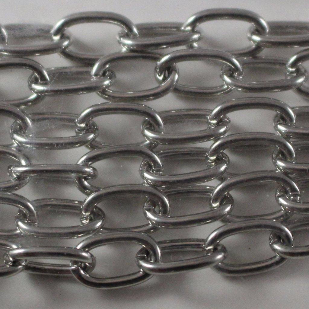 Chain, Gunmetal Elongated Cable Chain. Sku B4T-GM465 - Azillion Beads