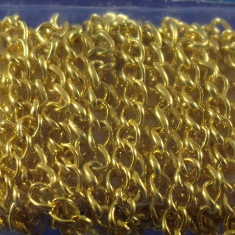 Chain, Gold Plated Curb. Sku B4T-GP030