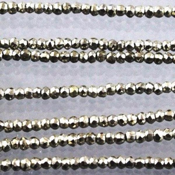 Pyrite, Oxidized Silver Coated Beads. - Azillion Beads