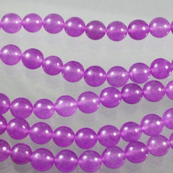 Jade Beads, Magenta, Dyed, 12mm. Sku W10065 CLOSEOUTS! - Azillion Beads