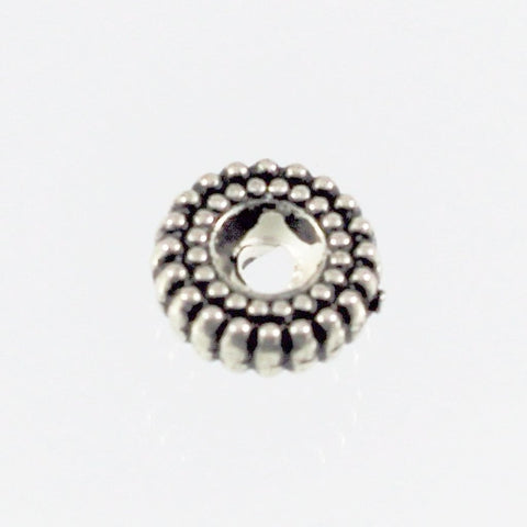 Spacer Beads, Wheel Shapes, Silver Plated Resin, USA - Azillion Beads