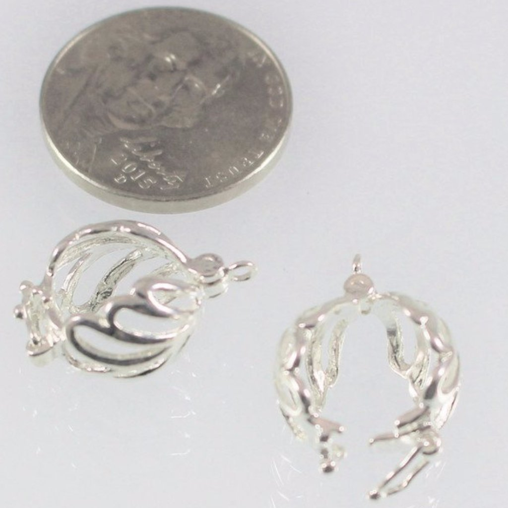 Bails, Enhancer, Silver Plated, 8mm. Sku B31029B - Azillion Beads