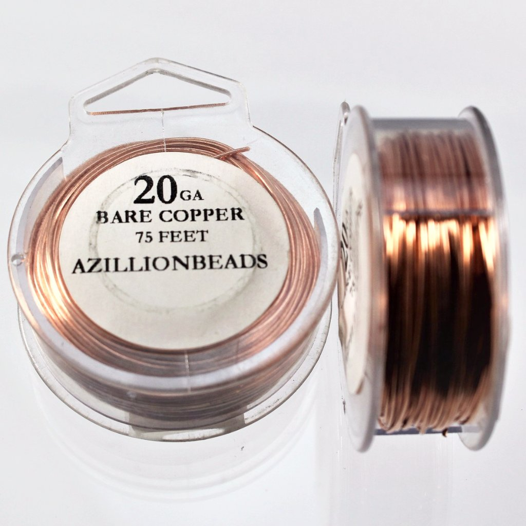 20g Copper Wire, Bare Copper, 75ft  R7S5B-20BC