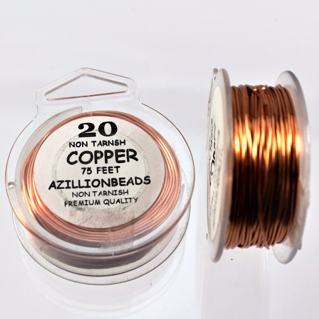 20g Copper Wire, Copper color, 75ft  R7S5B-20C - Azillion Beads