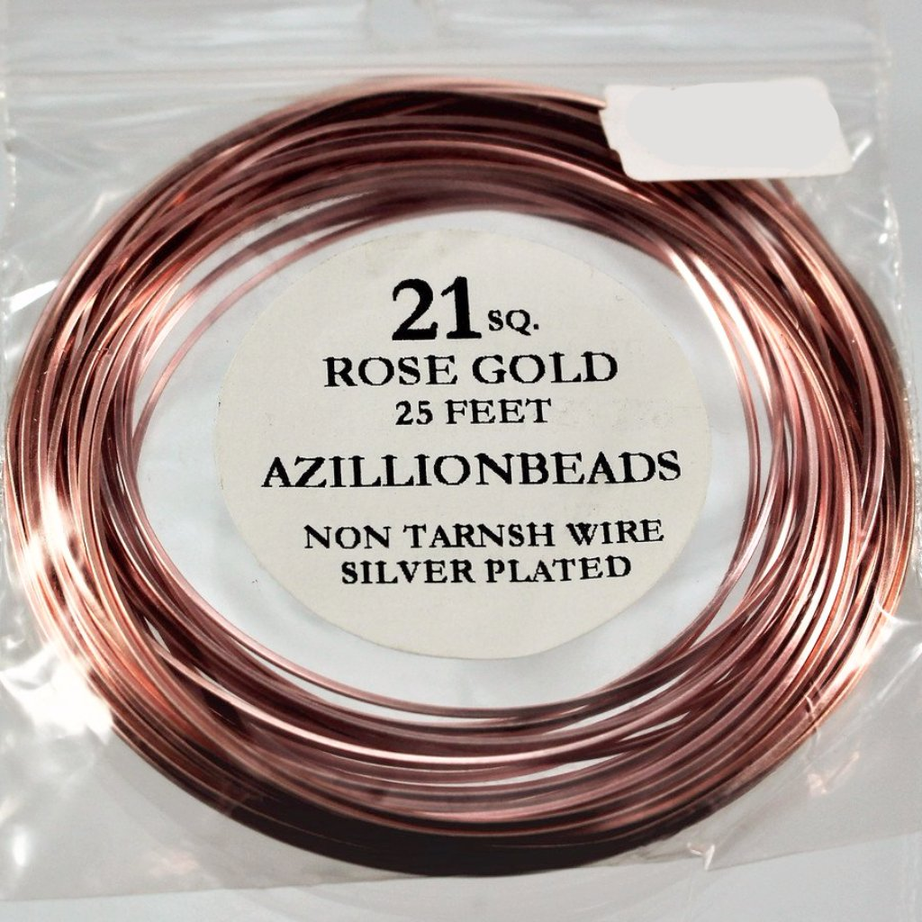 21g Square Copper Wire, Rose Gold, 25ft  R7S5B-21SQRG