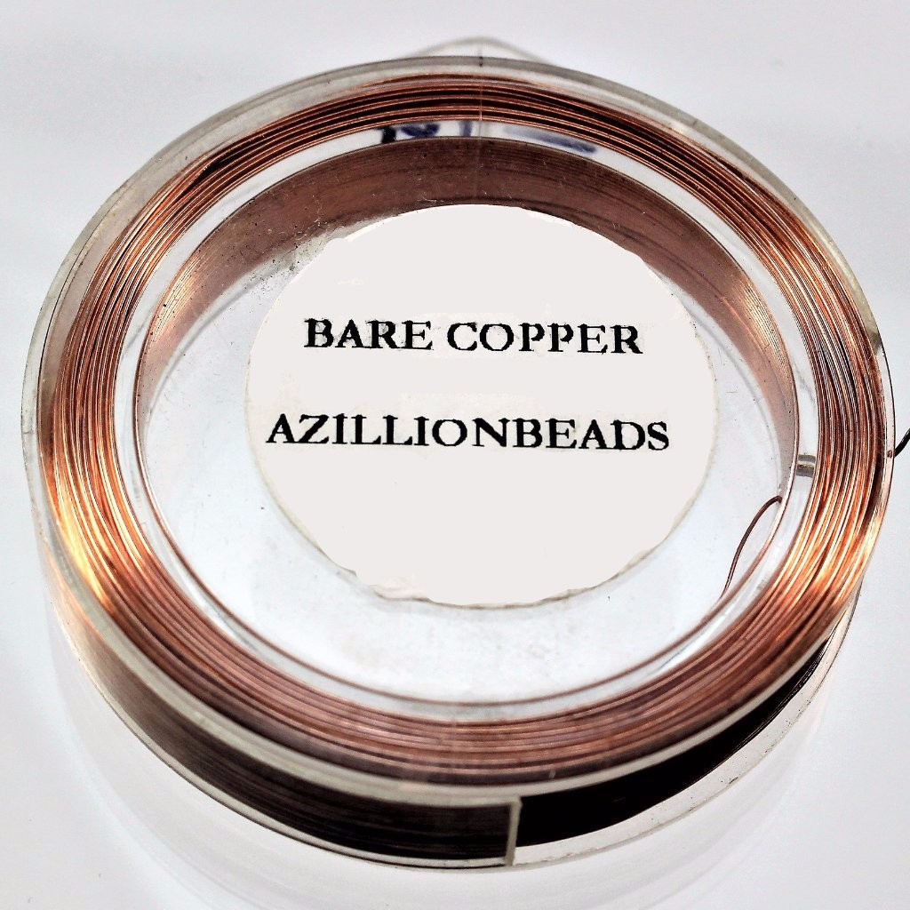 26g Copper Wire, Bare Copper, 200ft  R7S5C-26BC - Azillion Beads