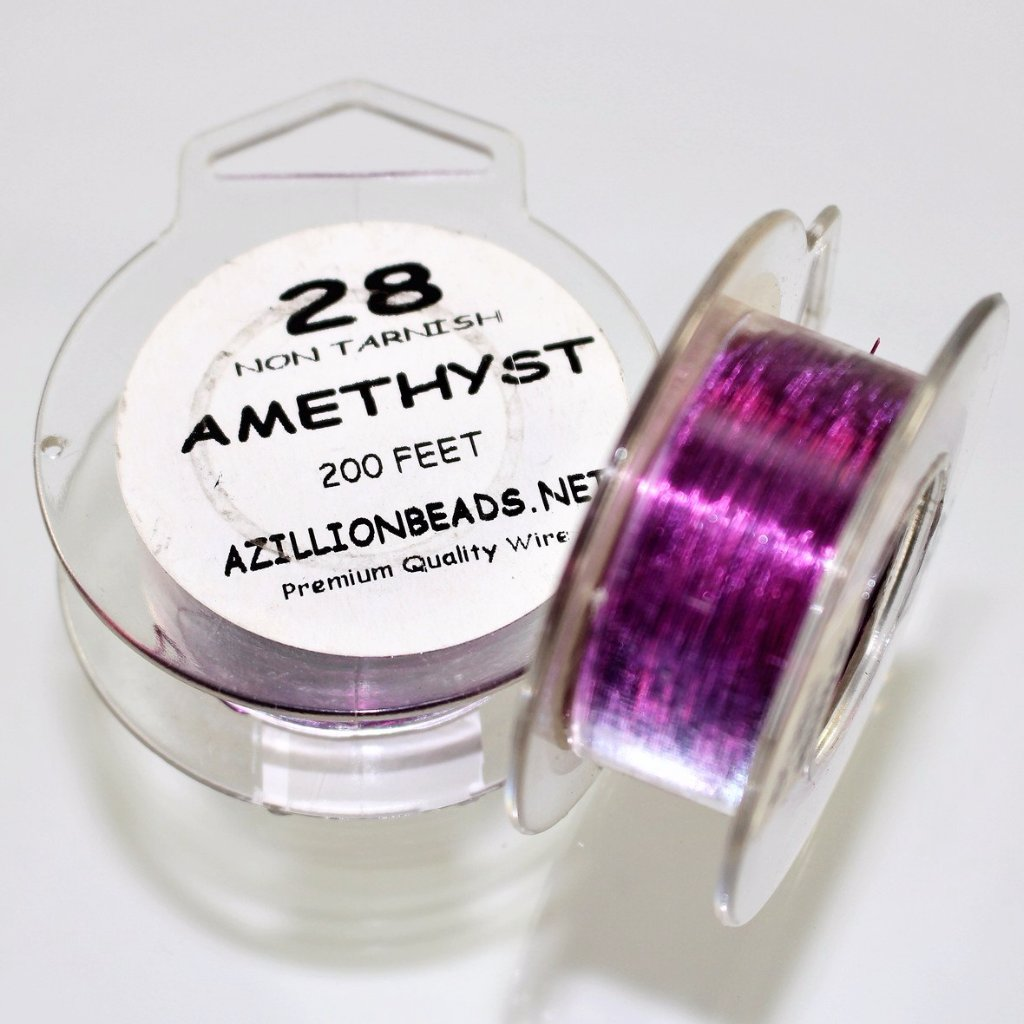 28g Copper Wire, Amethyst, 200ft  R7S5C-28A - Azillion Beads