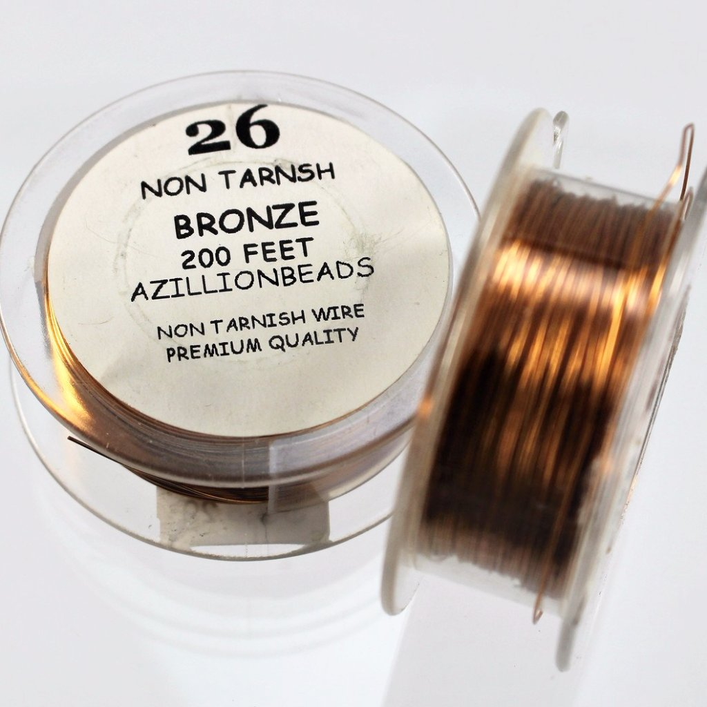 26g Copper Wire, Bronze, 200ft  R7S5C-26BRZ - Azillion Beads