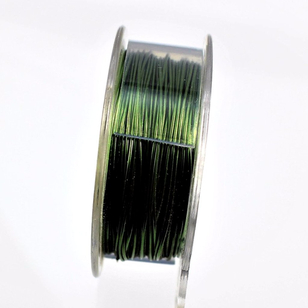 24g Copper Wire, Green, 150ft  R7S5C-24GRN - Azillion Beads