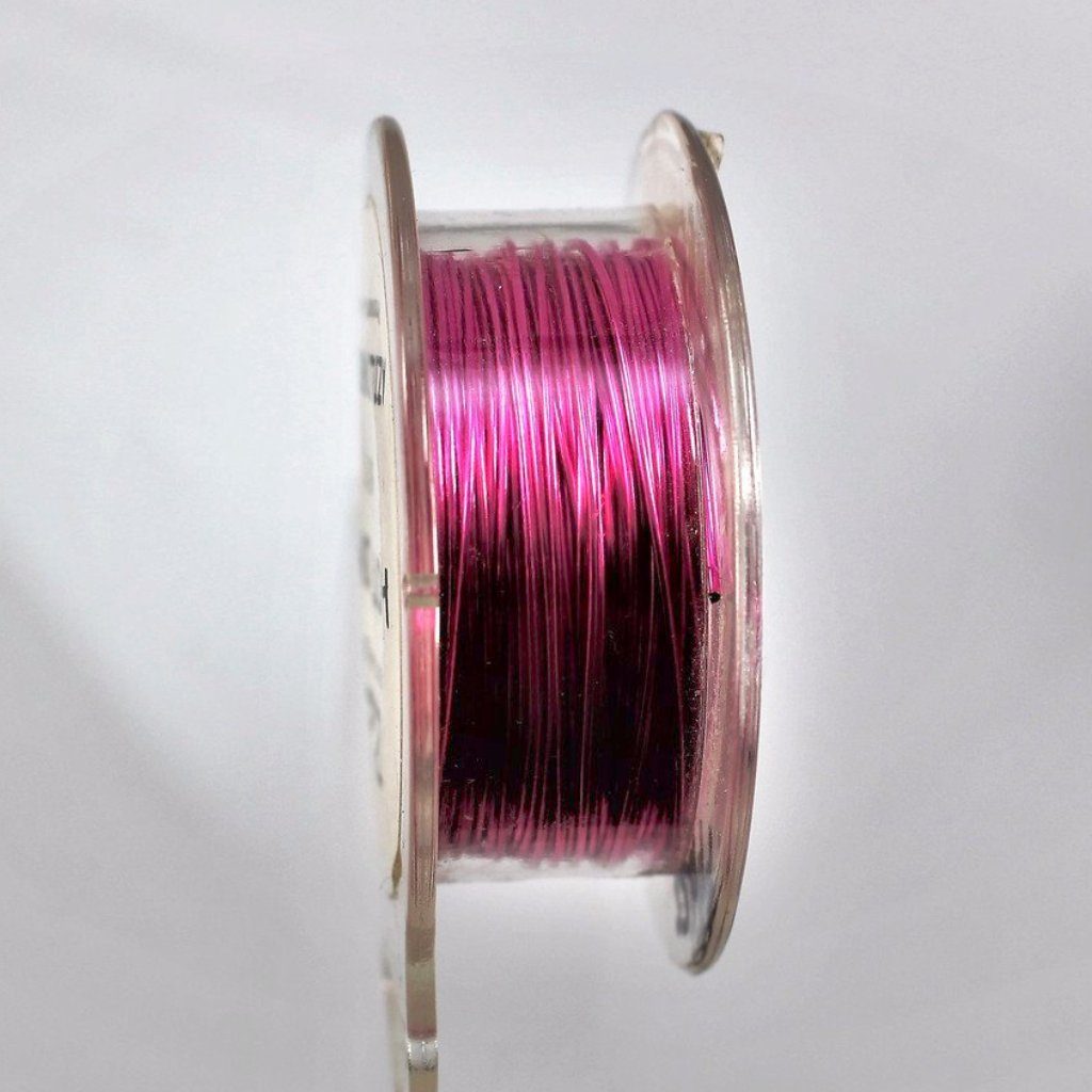 26g Copper Wire, Hot Pink, 150ft  R7S5C-26HP - Azillion Beads