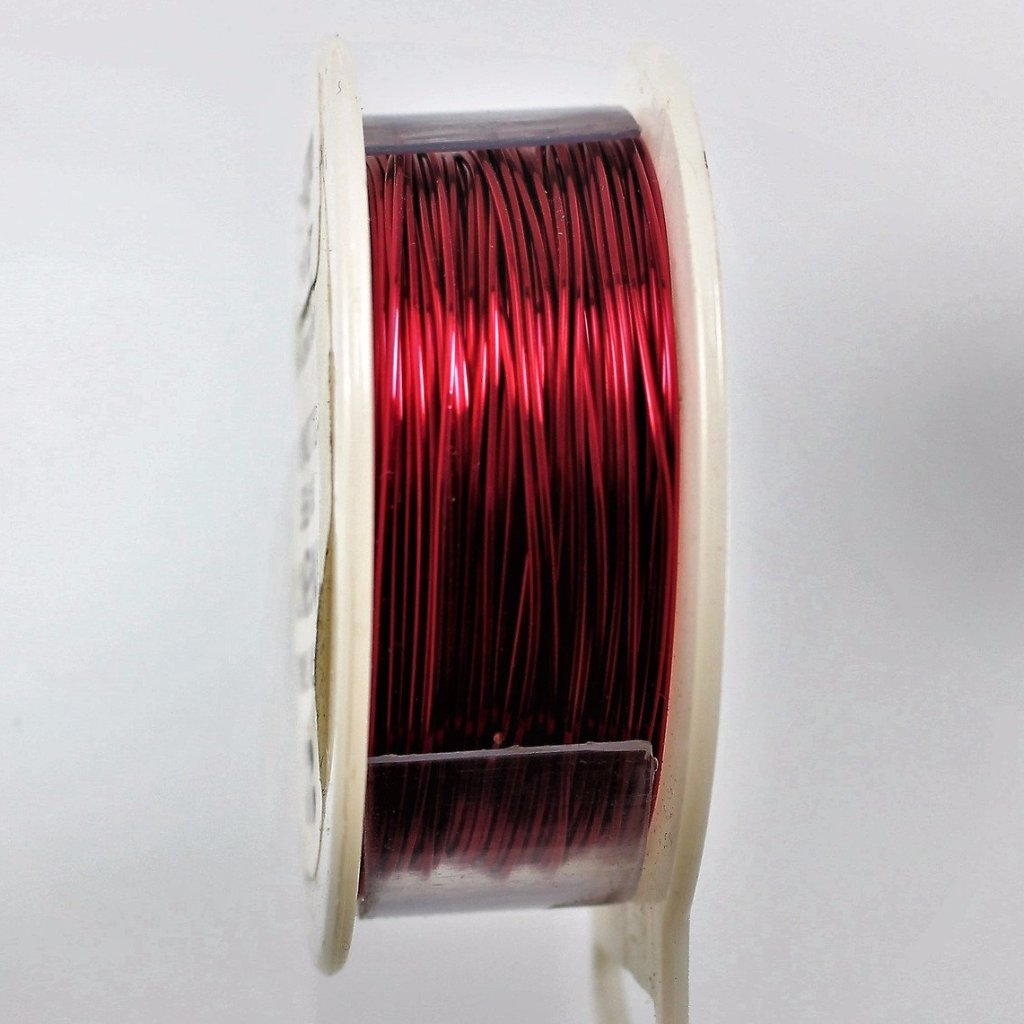 26g Copper Wire, Red, 300ft  R7S5C-26R - Azillion Beads