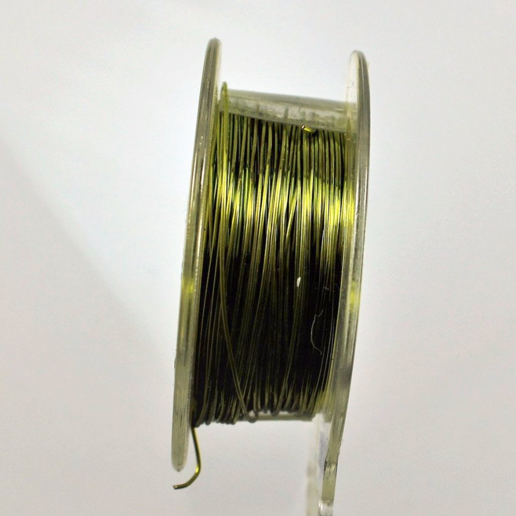 26g Copper Wire, Peridot, 150ft  R7S5C-26PER - Azillion Beads