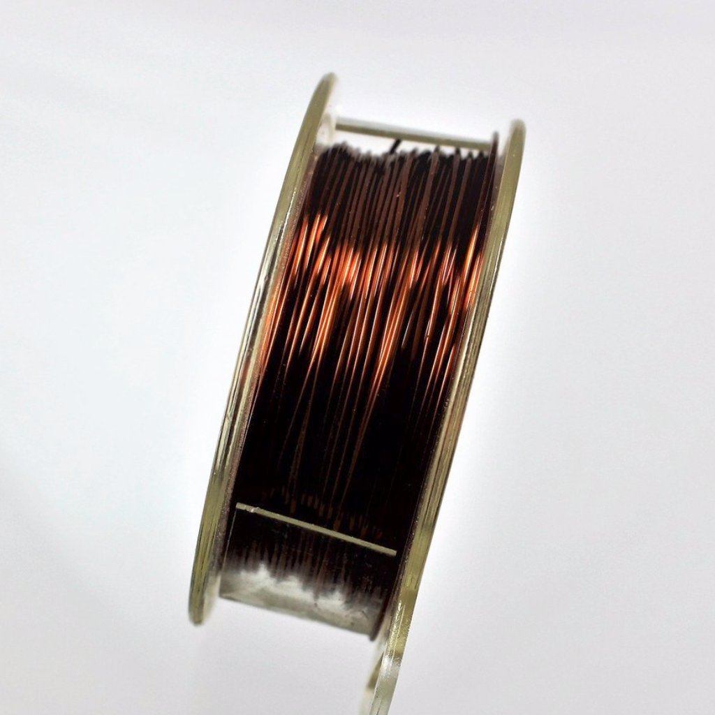 28g Copper Wire, Brown, 300ft  R7S5C-28BRN - Azillion Beads