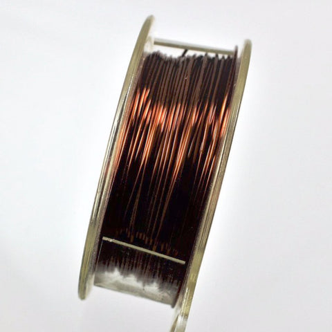 26g Copper Wire, Brown, 200ft  R7S5C-26BRN - Azillion Beads