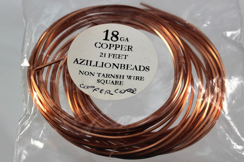 18g. Square Copper Parawire