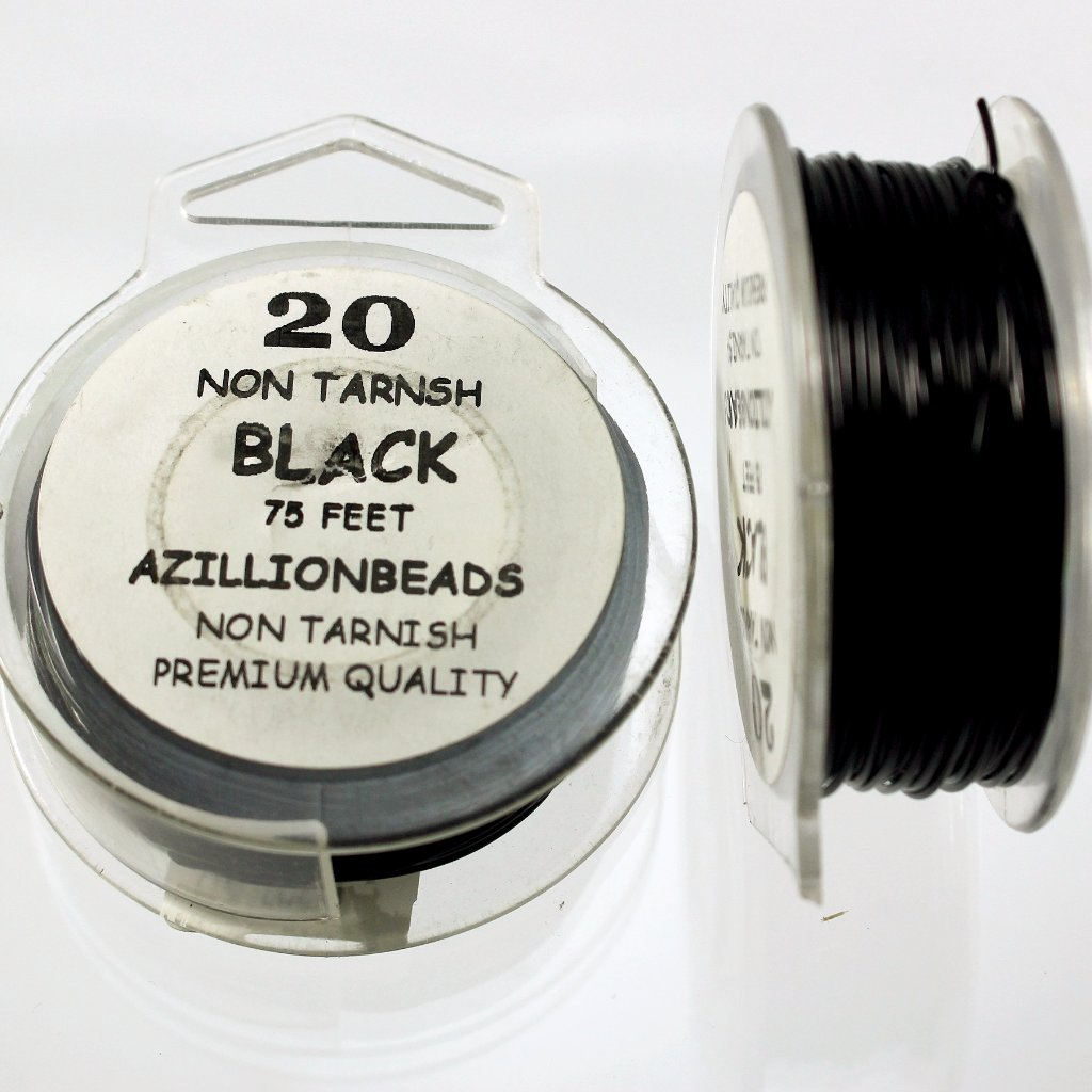 20g Copper Wire, Black, 75ft  R7S5B-20BLK - Azillion Beads