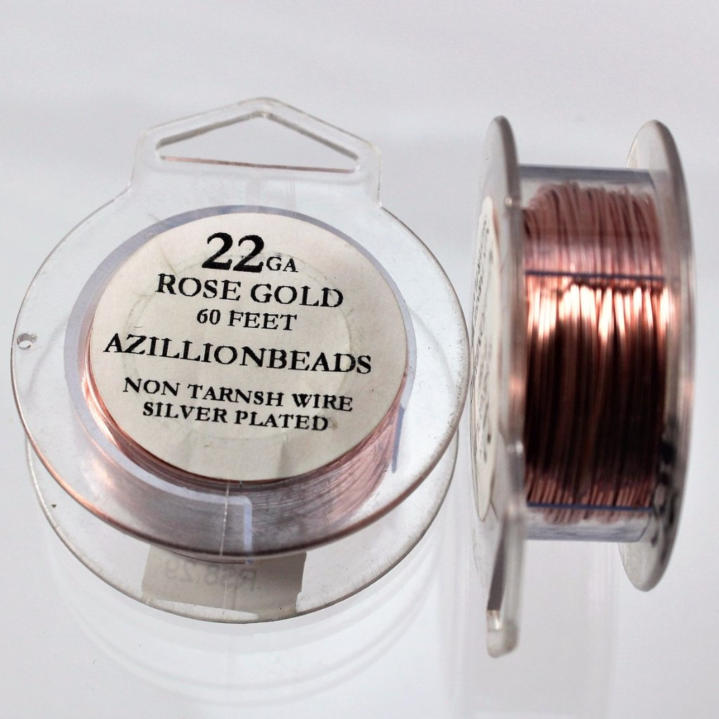 22g Copper Wire, Rose Gold, 60ft  R7S4C-22RG