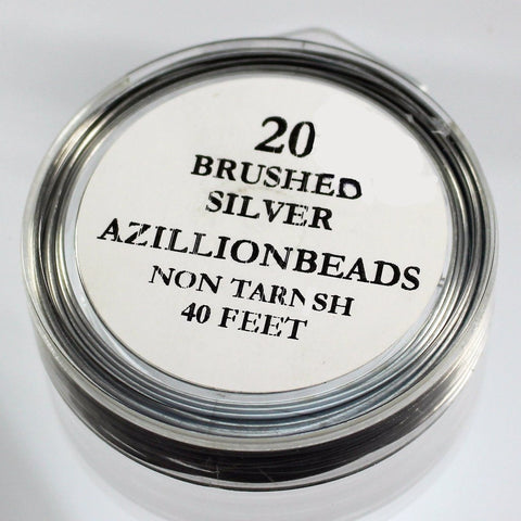 20g Copper Wire, Brushed Silver, 40ft  R7S5B-20BRS - Azillion Beads