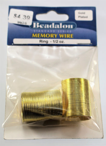 Remembrance Memory Wire Gold  R7S5C-MWG - Azillion Beads