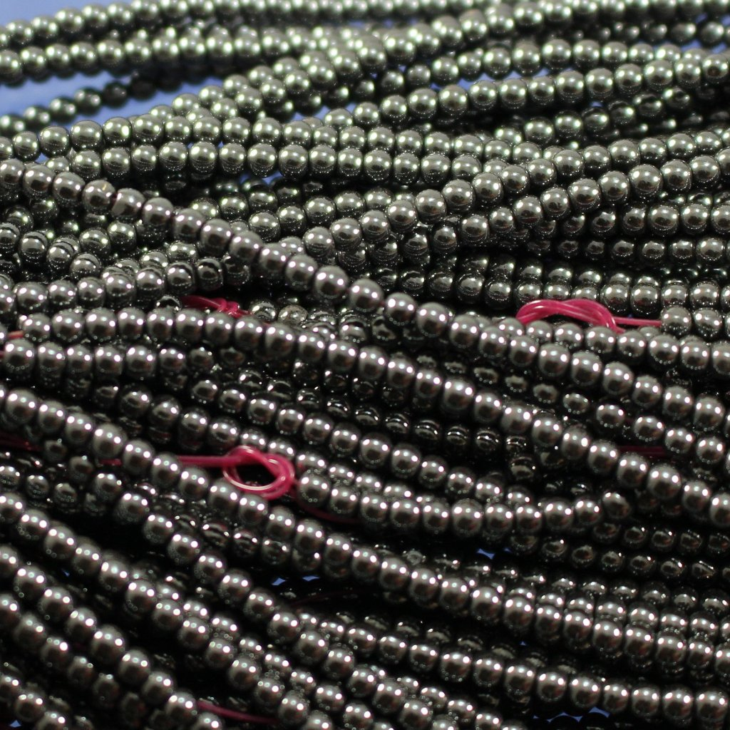 Hematite, 2.5 mm, Lab Produced. Sku 372 - Azillion Beads