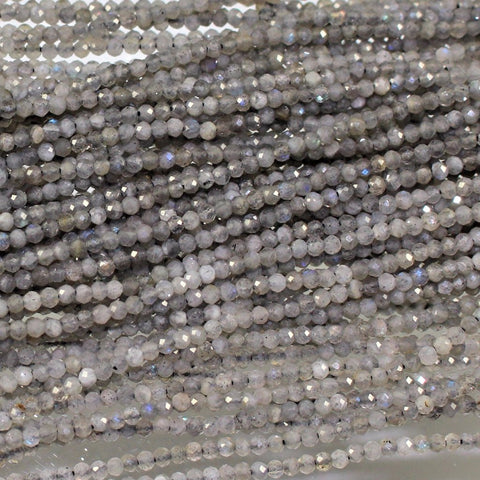 Labradorite, 3mm Faceted Beads. Sku W10527 CLOSEOUTS! - Azillion Beads