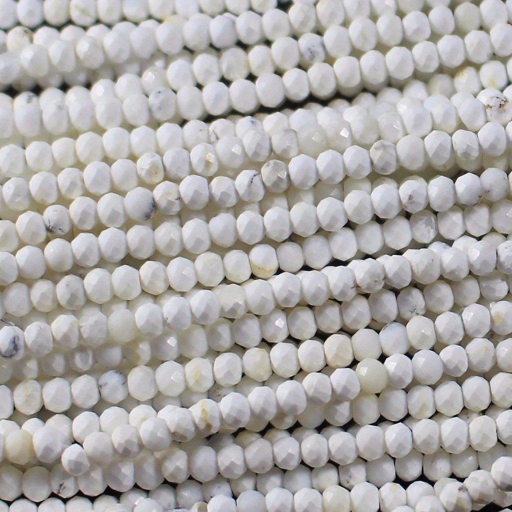 Opal, Dendrite, 3.5mm Faceted Round Beads. Sku W10565 CLOSEOUTS! - Azillion Beads