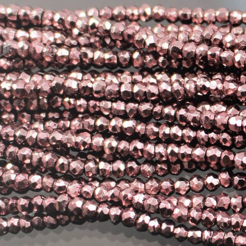3mm Color Coated Pyrite - Mauve  W1-0624