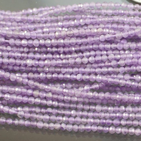 Amethyst Beads, Lavender, Laser Faceted - Azillion Beads